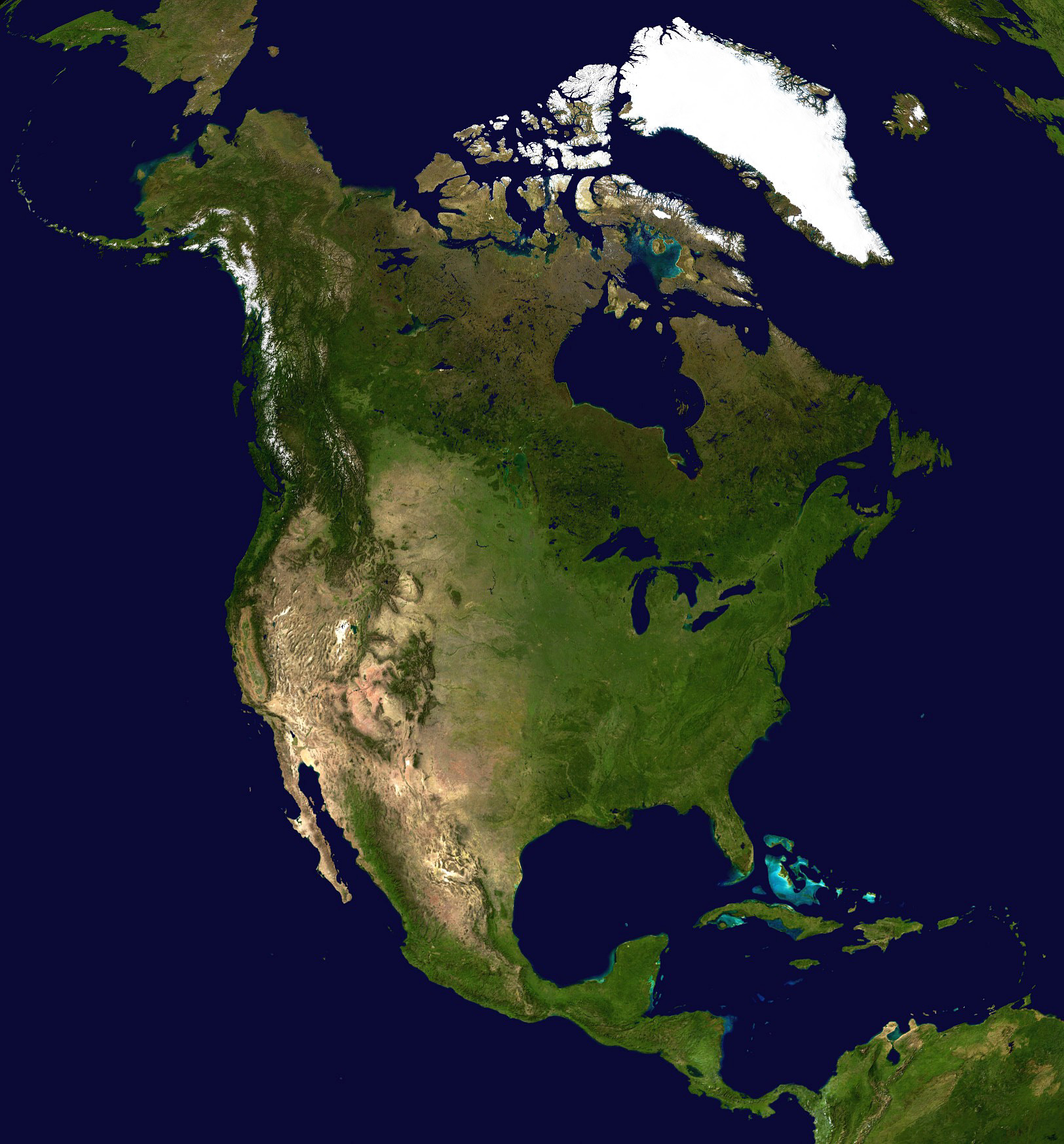 Maps Of North America And North American Countries Political - America google maps
