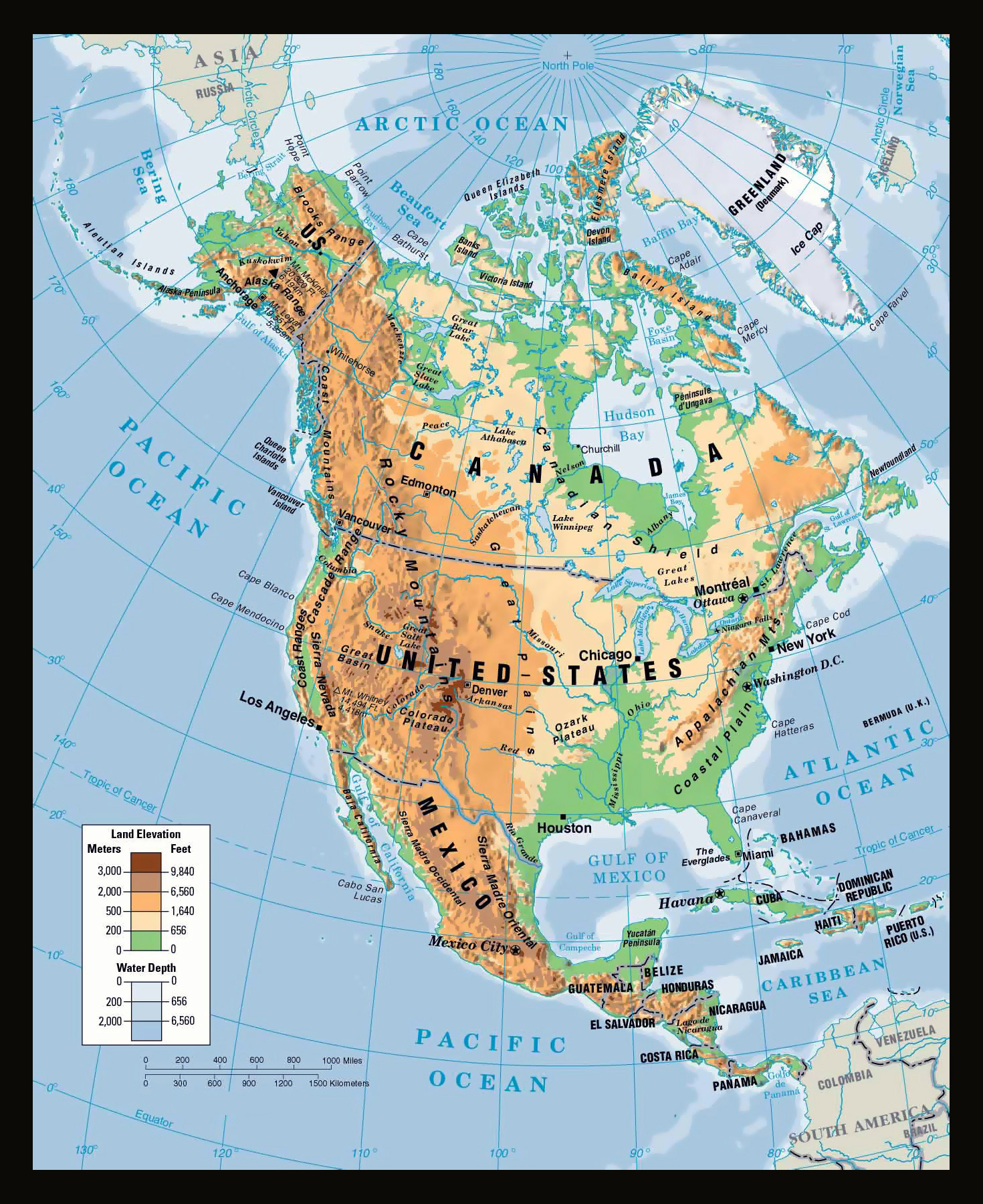 Maps Of North America And North American Countries Political - Physical of map venezuela