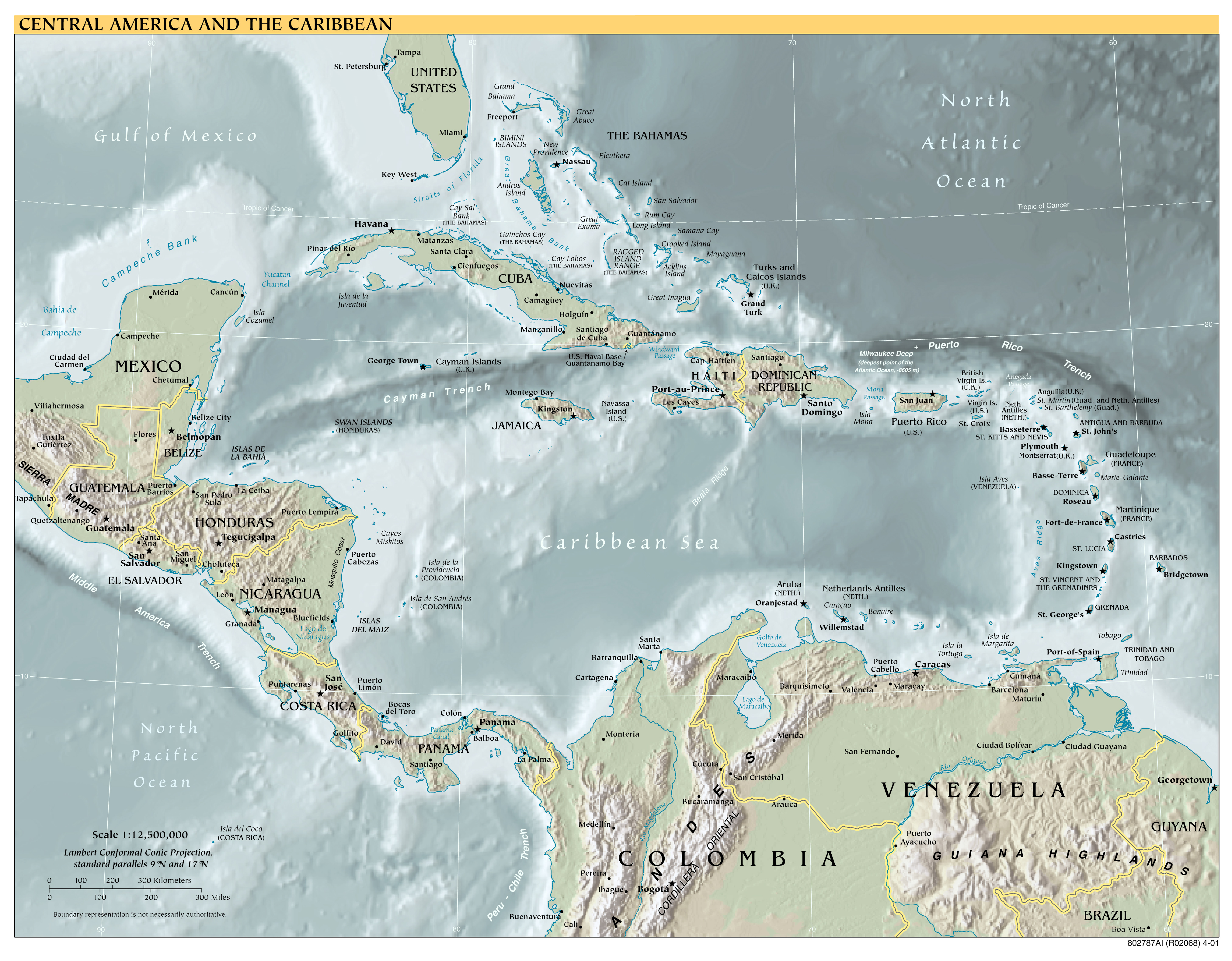 Maps Of North America And North American Countries Political - Venezuela cities small scale map