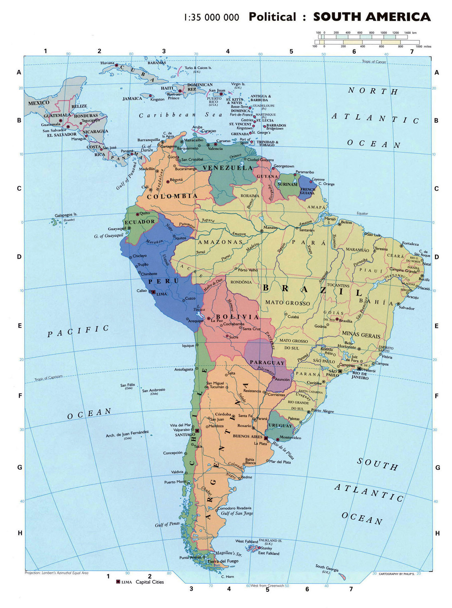 Maps Of South America And South American Countries Political - Maps america