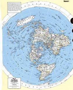 Detailed map of the World in polar projection.