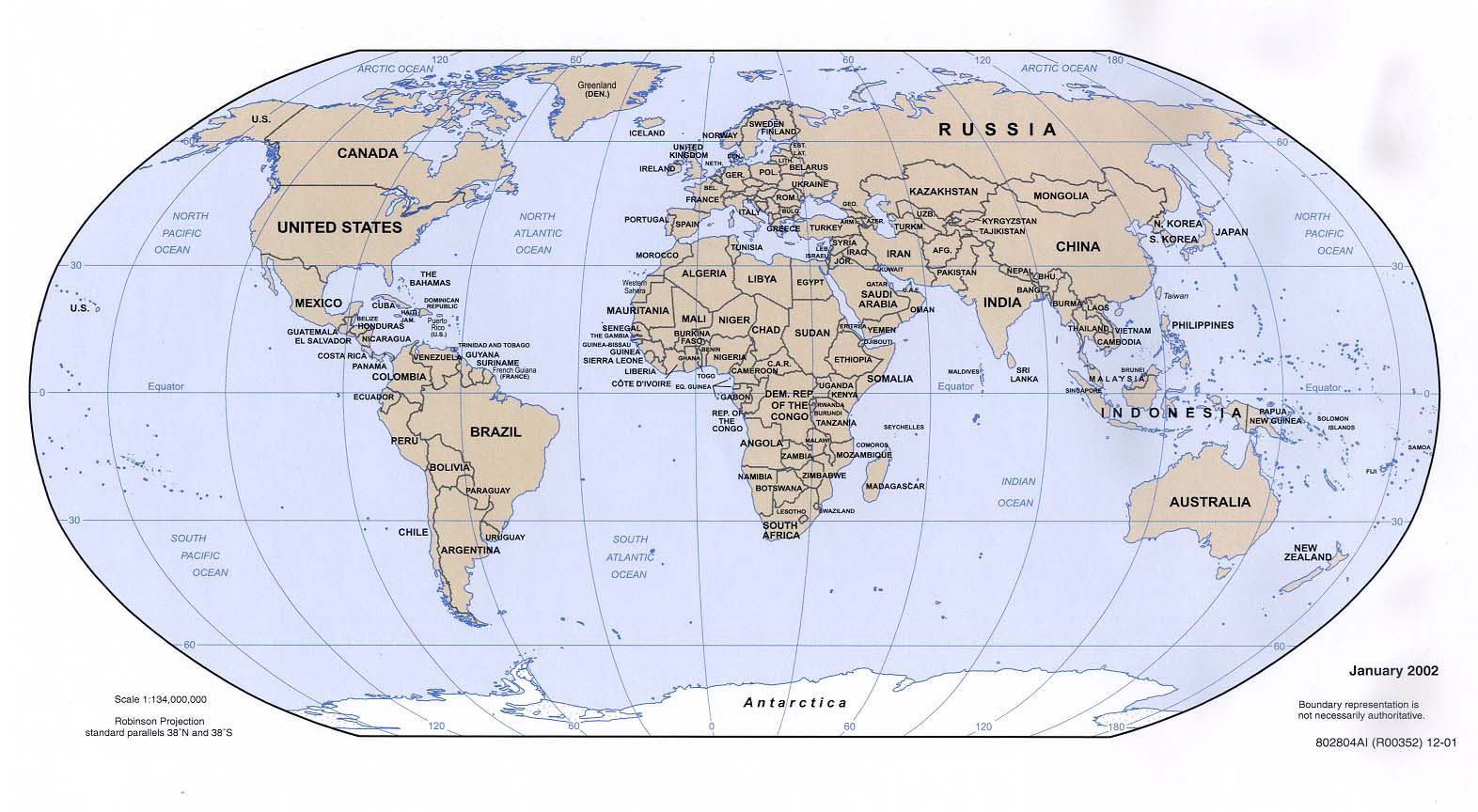 Maps of the World (World maps), Political maps, Geographical maps ...