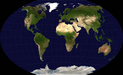 Detailed satellite map of the World.