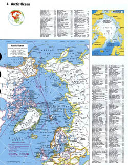 Large detailed map of Arctic Ocean.