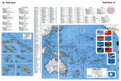 Large detailed map of Pacific Ocean islands.