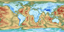 Large detailed map of the Earth's fractured surface.