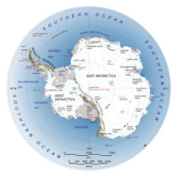 Large map of Antarctica.