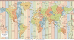 Large scale Time Zones map of the World - 2013.