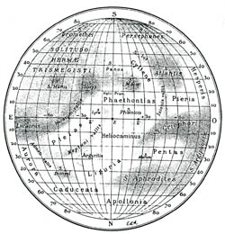 Detailed map of Mercury - 1934.