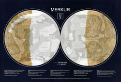 Large detailed topographic map of Mercury - 2002.