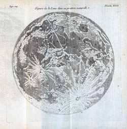 Detailed map of the Moon - 1771.