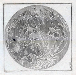 Detailed map of the Moon - 1783.