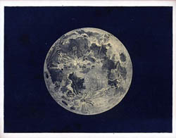 Detailed map of the Moon - 1842.