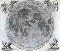 Large detailed map of the Moon - 1647.