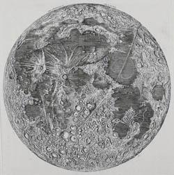 Large detailed map of the Moon - 1692.