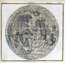 Large detailed map of the Moon - 1723.