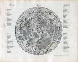 Large detailed map of the Moon - 1842.