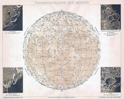 Large detailed map of the Moon - 1898.