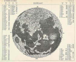 Map of the Moon - 1890.
