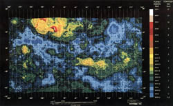 Large detailed topographic map of Venus - 1981.